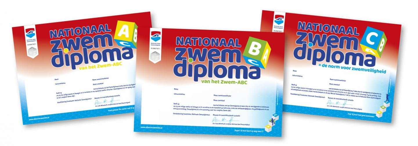 Nationale Zwemdiploma's ABC